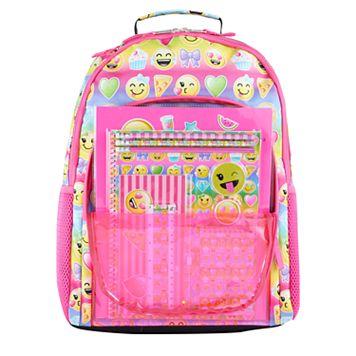 Kids Emoji Backpack & Stationary Set
