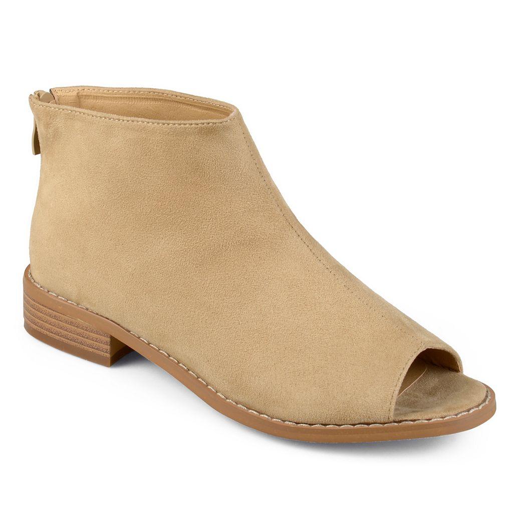 Journee Collection Reya Women's Peep Toe Ankle Boots