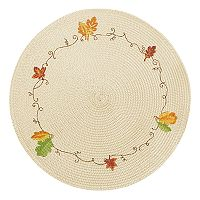 Celebrate Fall Together Leaf Round Placemat