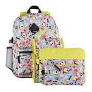 Kids 6 pc Emoji Icon Backpack & Accessories Set