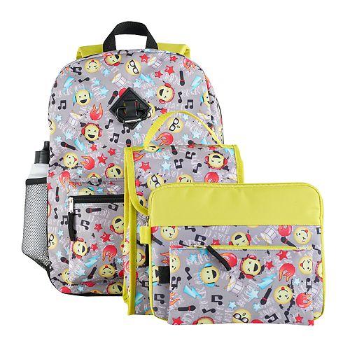 Kids 6-pc. Emoji Icon Backpack & Accessories Set