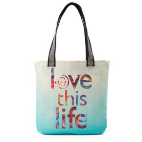 love this life Dip-Dyed Tote