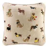 Cuddl Duds Dogs Throw Pillow