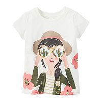 Baby Girl Carter's Foiled Explorer Graphic Tee