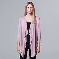 Women's Simply Vera Vera Wang Mix-Media Flyaway Cardigan
