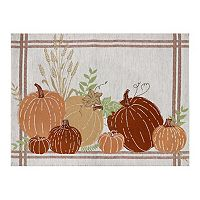 Celebrate Fall Together Tapestry Pumpkin Placemat