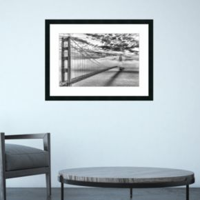 Amanti Art Evening Commute Golden Gate Bridge Framed Wall Art