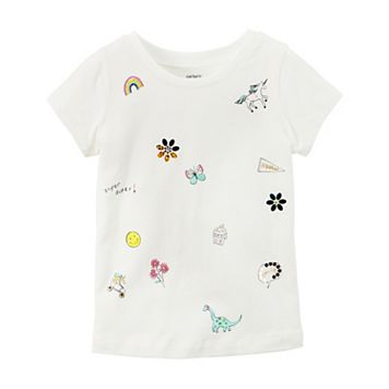 Baby Girl Carter's Embellished Patch Tee