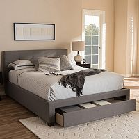 Baxton Studio Brandy Queen Platform Bed