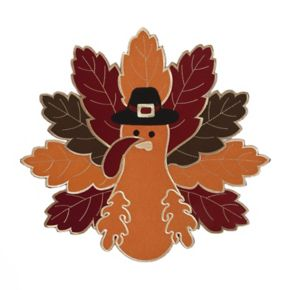 Celebrate Fall Together Shaped Turkey Placemat