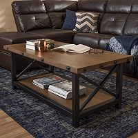 Baxton Studio Herzen Rustic Industrial Coffee Table