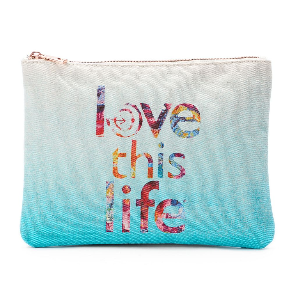 love this life Dip-Dyed Cosmetic Pouch