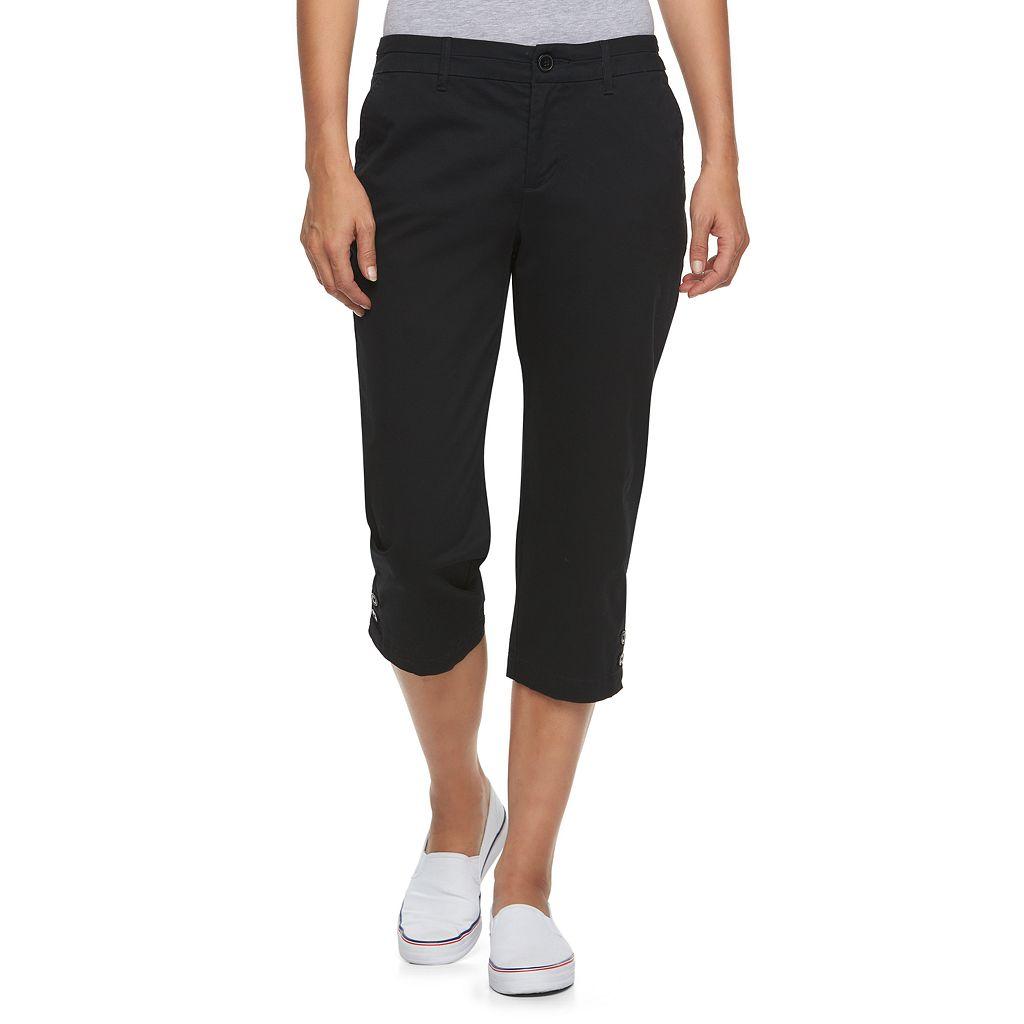 Women's Croft & Barrow® Essential Button-Hem Twill Capris