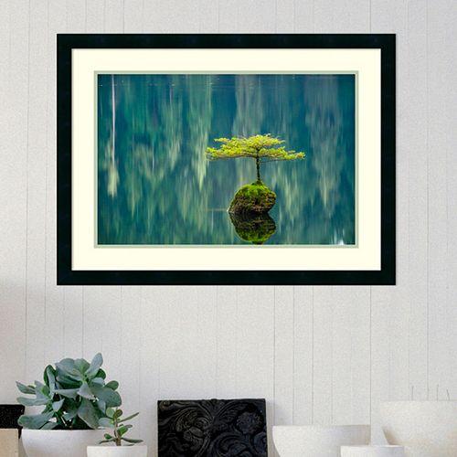 Amanti Art Fairy Lake Bonsai Framed Wall Art