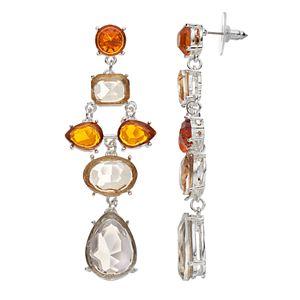 Jennifer Lopez Simulated Crystal Chandelier Earrings