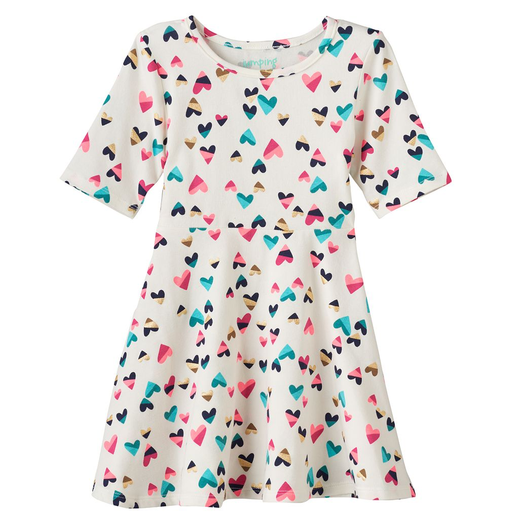 Toddler Girl Jumping Beans® Foiled Skater Dress
