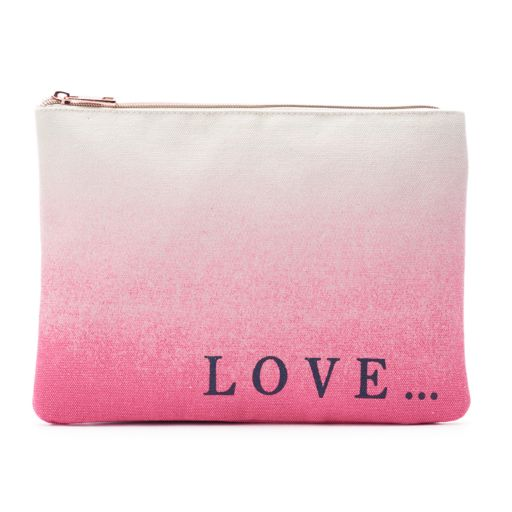 """love this life Dip-Dyed """"Love..."""" Cosmetic Pouch"""