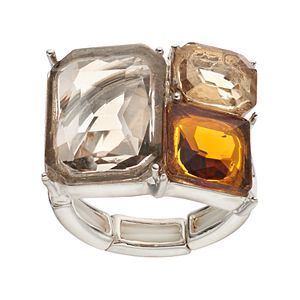 Jennifer Lopez Rectangular Stone Stretch Ring