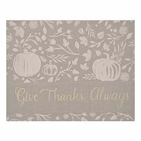 Celebrate Fall Together Pumpkin Border Placemat