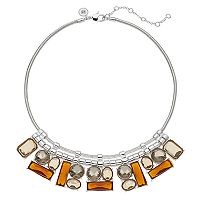 Jennifer Lopez Geometric Stone Cluster Statement Necklace