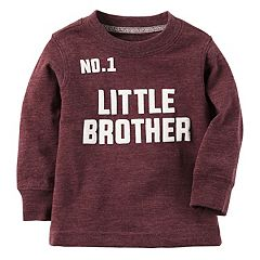 Baby Boy Carter's '#1 Little Brother' Long Sleeve Graphic Tee