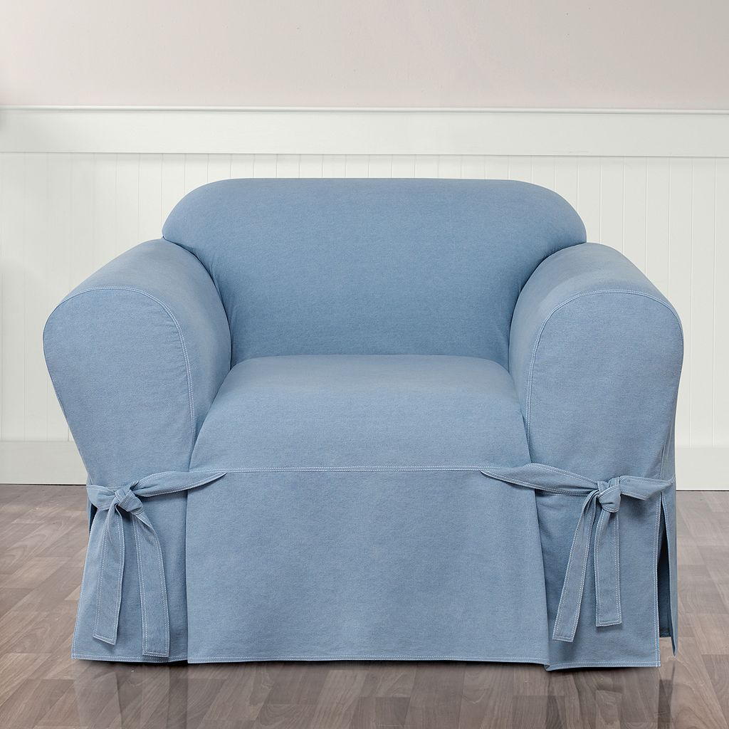 Sure Fit Authentic Denim Chair Slipcover