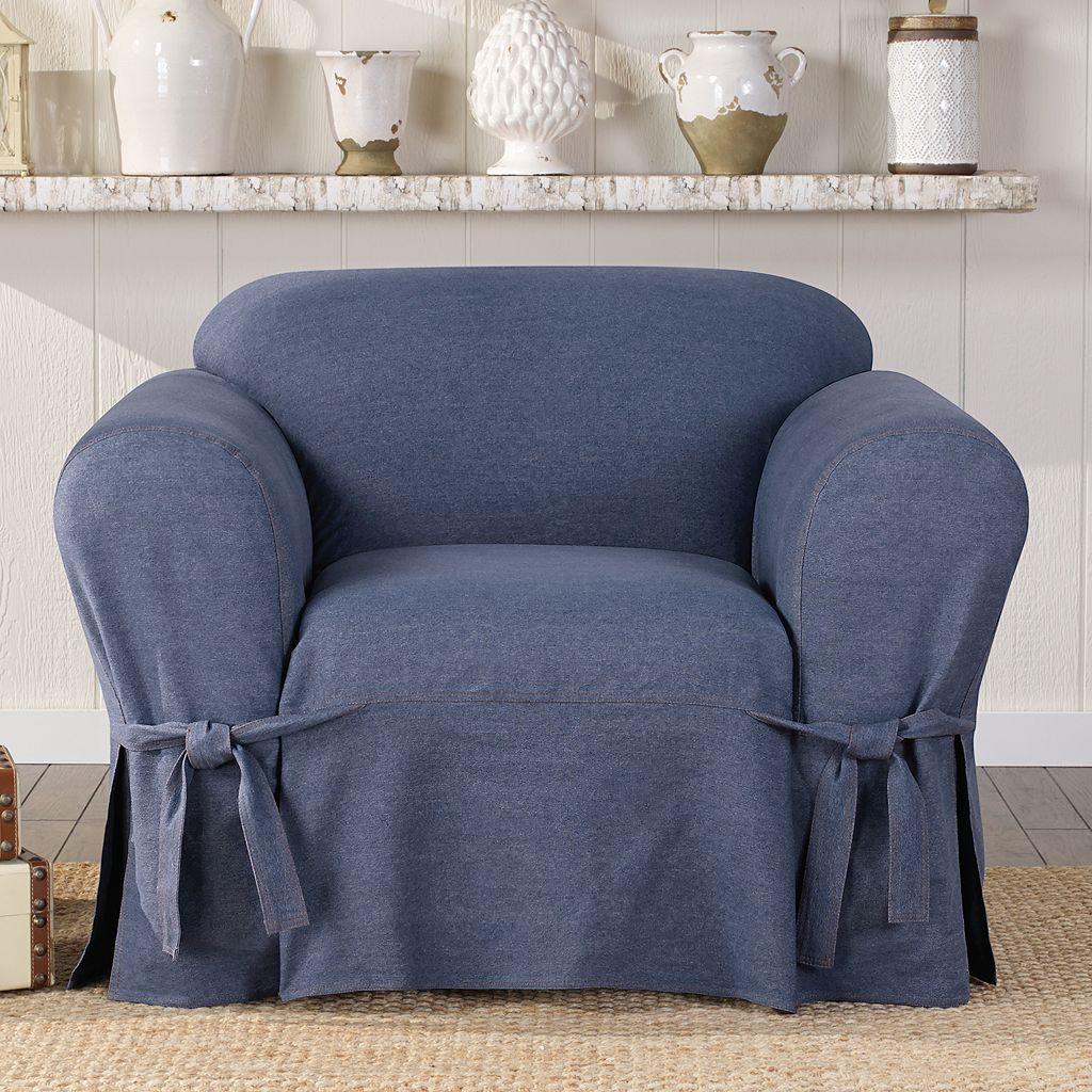 Sure Fit Authentic Denim Chair Slipcover