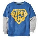 "Baby Boy Carter's ""Super Bro"" Mock Layer Graphic Tee"
