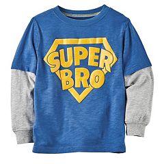 Baby Boy Carter's 'Super Bro' Mock Layer Graphic Tee
