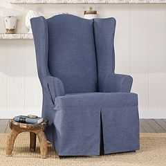 Sure Fit Authentic Denim Wing Chair Slipcover