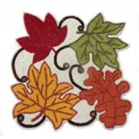Celebrate Fall Together Beaded Leaf Placemat