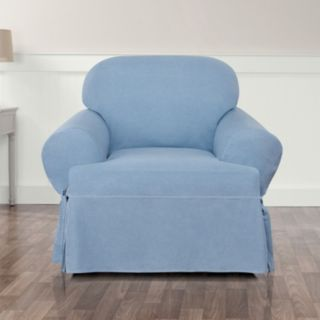 Sure Fit Authentic Denim T-Chair Slipcover