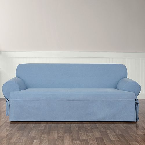 Sure Fit Authentic Denim T-Sofa Slipcover