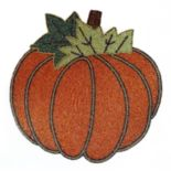 Celebrate Fall Together Beaded Pumpkin Placemat