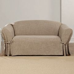 Sure Fit Textured Linen Loveseat Slipcover