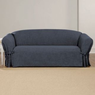 Sure Fit Textured Linen Sofa Slipcover