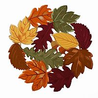 Celebrate Fall Together Cut Out Leaf Placemat