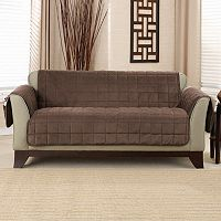 Sure Fit Deep Pile Velvet Loveseat Slipcover