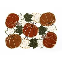 Celebrate Fall Together Cut Out Pumpkin Placemat