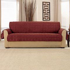 Sure Fit Deep Pile Velvet Sofa Slipcover