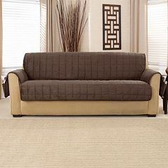 Sure Fit Deep Pile Velvet Sofa Slipcover