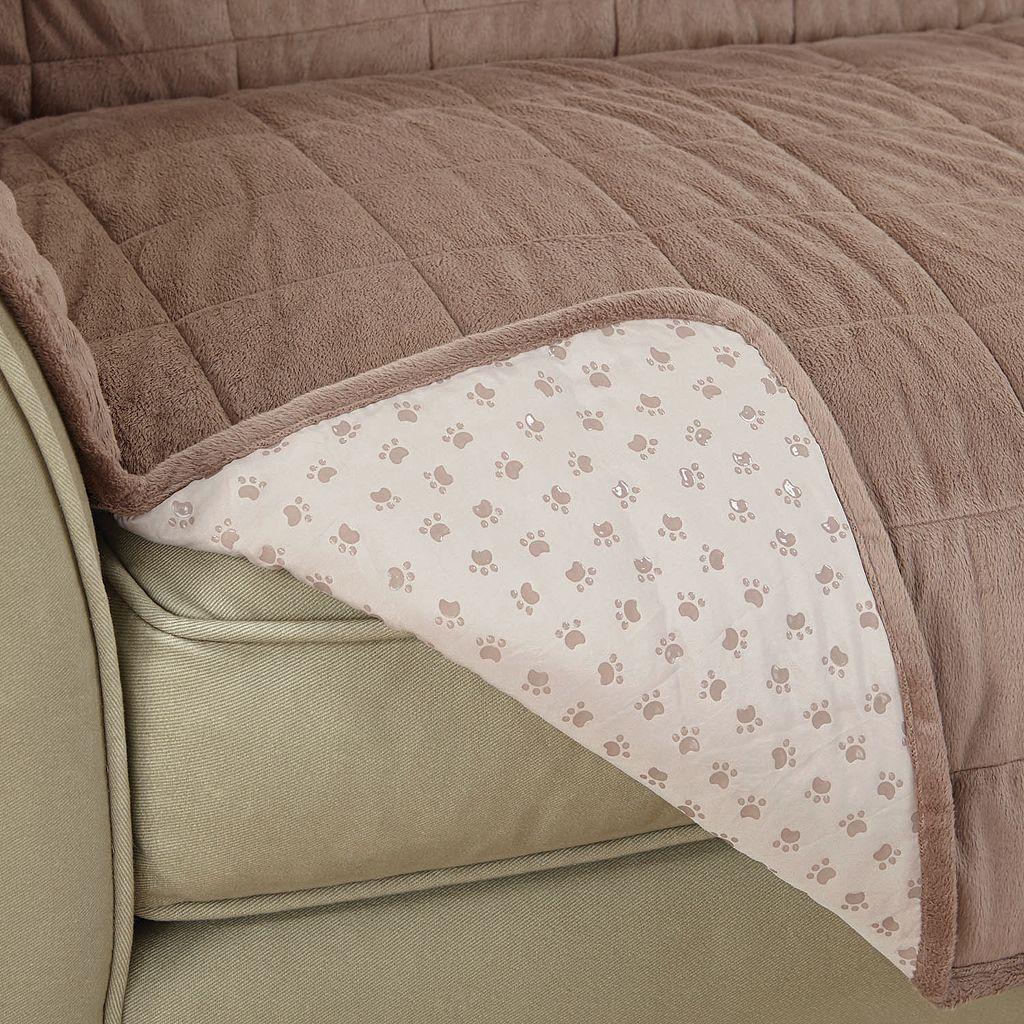 Sure Fit Deep Pile Velvet Recliner Slipcover