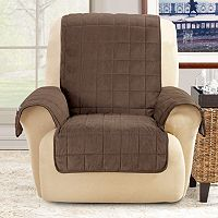Sure Fit Deep Pile Velvet Recliner Slipcover