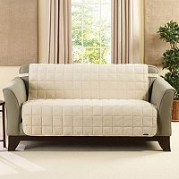 Sure Fit Deluxe Comfort Armless Loveseat Slipcover