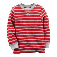 Baby Boy Carter's Red Striped Thermal Top