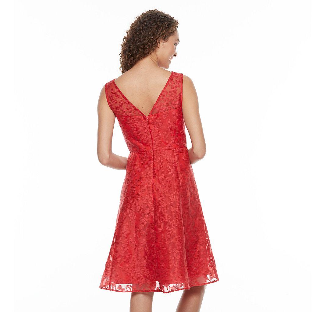 Women's Chaya Illusion Lace Fit & Flare Dress