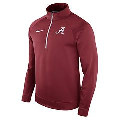Men's Nike Alabama Crimson Tide Quarter-Zip Therma Top