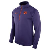 Men's Nike Clemson Tigers Quarter-Zip Therma Top
