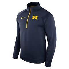 Men's Nike Michigan Wolverines Quarter-Zip Therma Top