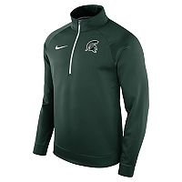 Men's Nike Michigan State Spartans Quarter-Zip Therma Top